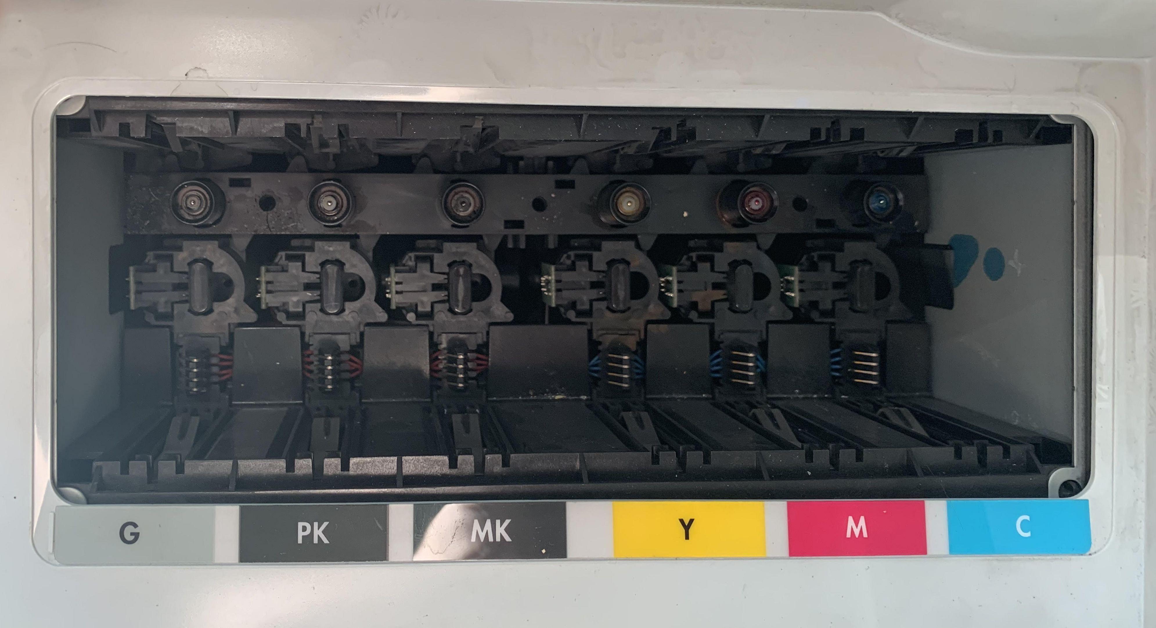 HP T790 установка картриджей
